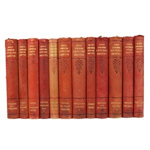 Antique Leather-Bound Books S/12
