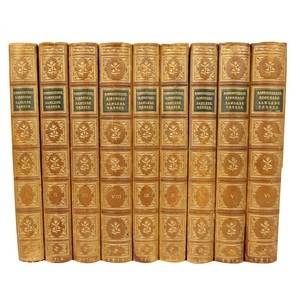 Antique Leather-Bound Books S/9