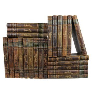 Antique Leather-Bound Books S/23