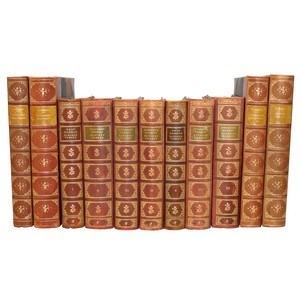 Antique Leather-Bound Books S/11