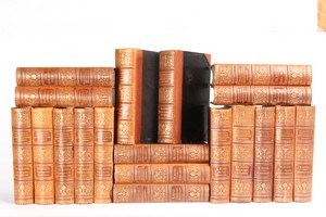 Antique Leather-Bound Books S/19