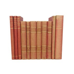 French Art Deco Cloth-Bound Books, S/11