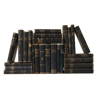 Scandinavian Leather-Bound Books S/25