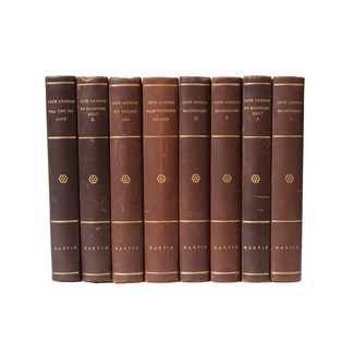 Scandinavian Leather-Bound Books S/8