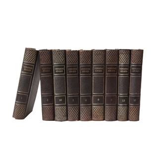 Scandinavian Leather-Bound Books S/9