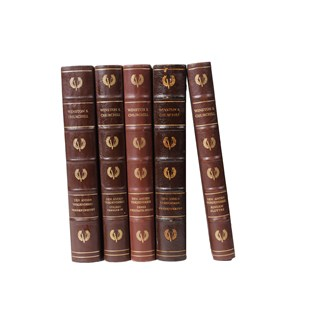 Scandinavian Leather-Bound Books S/5