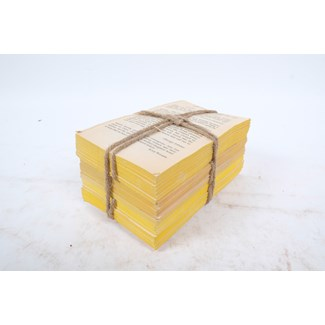 Weathered Words Collection- Turmeric, Unbound Yellow Toned Distressed Book Set, S/3