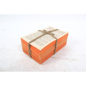 Weathered Words Collection- Spice, Unbound Red Toned Distressed Book Set, S/3