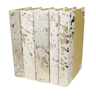 Metallic Hide - White/Gold, S/5